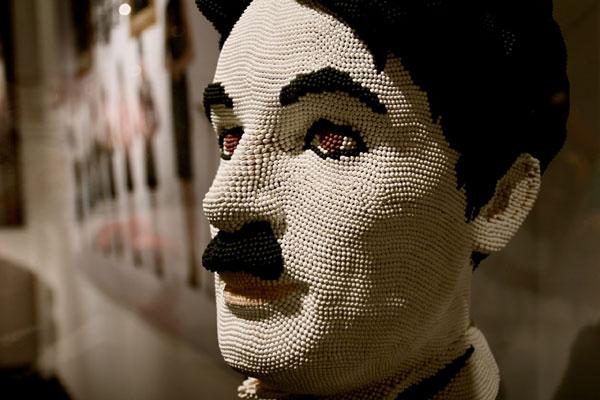 Charlie Chaplin by David Mach