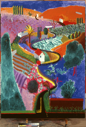 David Hockney, Nichols Canyon, 1980 Acrylic on canvas 213.4 x 152.4 cm Private collection © David Hockney