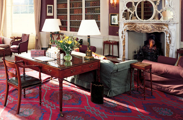 The Library at Hartwell House