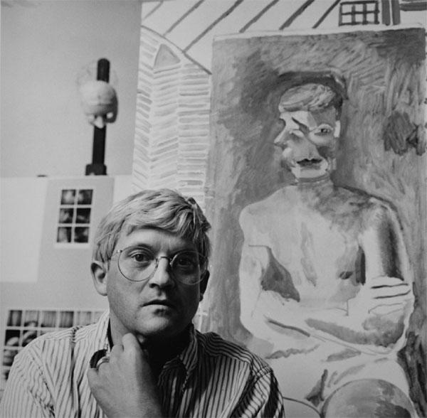 David Hockney by Paul Joyce, at Pembroke Studios, July 1982