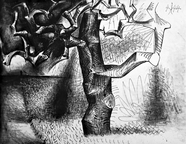 A sketch of a tree, by Pablo Picasso