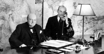 Churchill in the war rooms bunker
