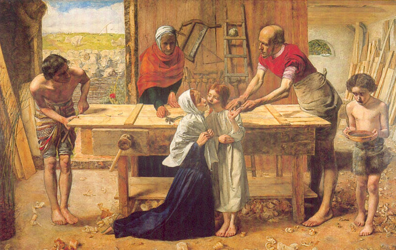 Christ in the House by John Everett Millais