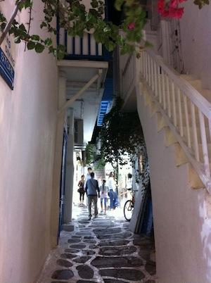 Mykonos Chora street