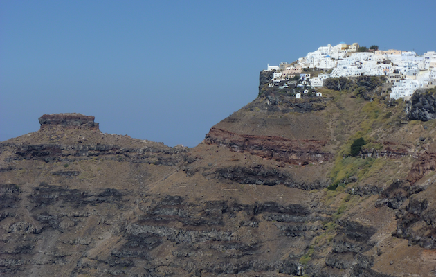 Santorini clifftop