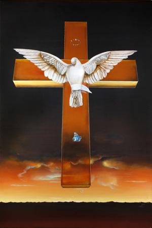 Koorosh Angali, Crucifix, Homage to Salvador Dali, 1983