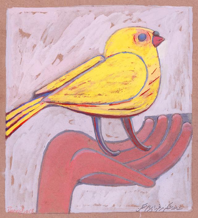 Parviz Tanavoli, Love the Birds, 2013