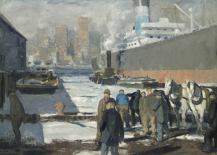 George Bellows, 'Men of the Docks', 1912.