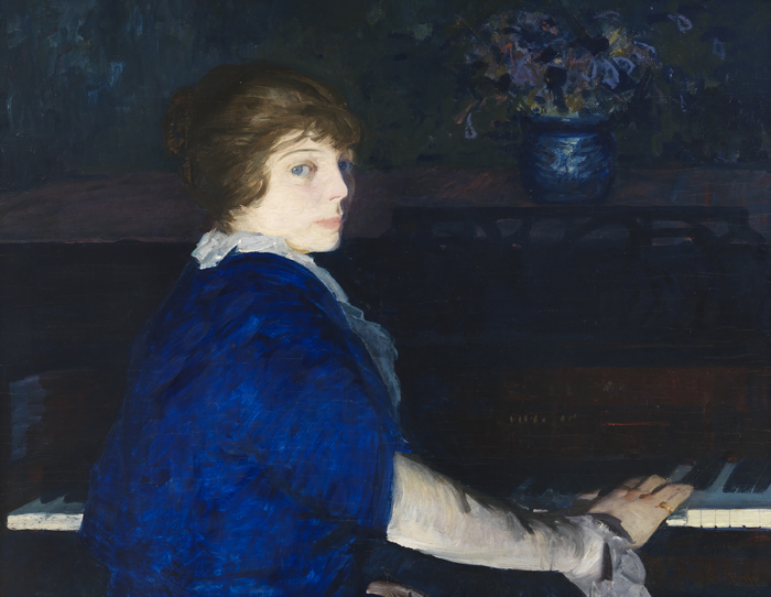 George Bellows, 'Emma at the Piano', 1914.