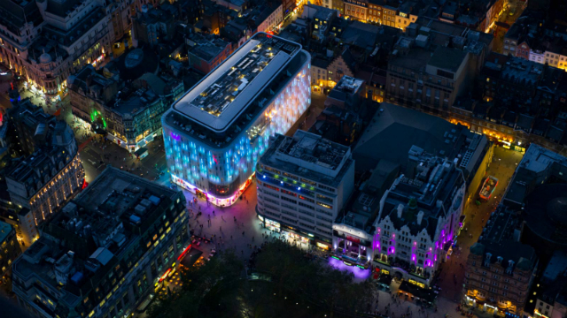 w_london_leicester_square_hotel_aerial_view_at_night