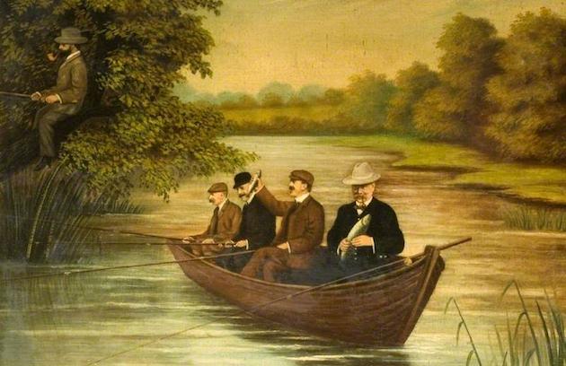 Henry Bullard, 'Fishing For Trout' (1906)