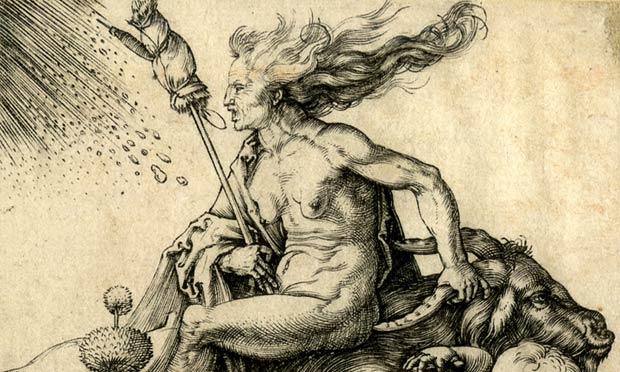 Albrecht Dürer, 'Witch Riding Backwards on a Goat' (1500)
