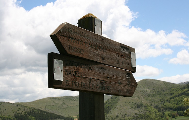 Abruzzo road signs