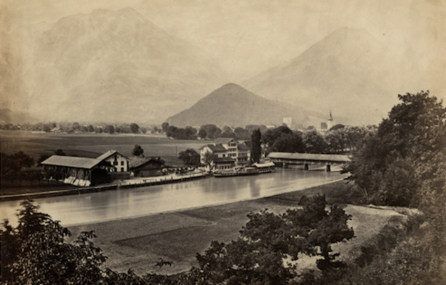 Before the train arrived in 1890, Interlaken Ost was simply a semi-rural boat station