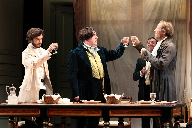 Old Vic_Fortune's Fool_Alexander Vlahos (Yeletsky), Richard McCabe (Tropatchov) and Iain Glen (Kuzovkin)_Credit Sheila Burnett_2900