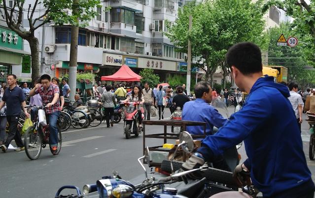 Shanghai On a Motorbike