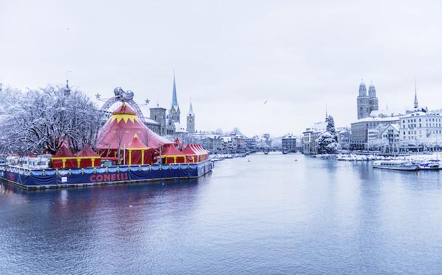 Zurich winter river