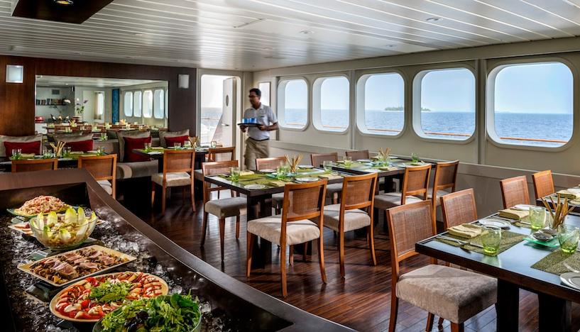 Maldives Explorer dining