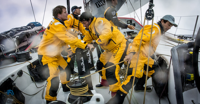 PORTUGAL, Cascais. 29th May 2014. Abu Dhabi Ocean Racing on board Azzam.