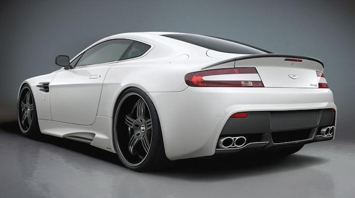 Aston Martin V12 Vantage white