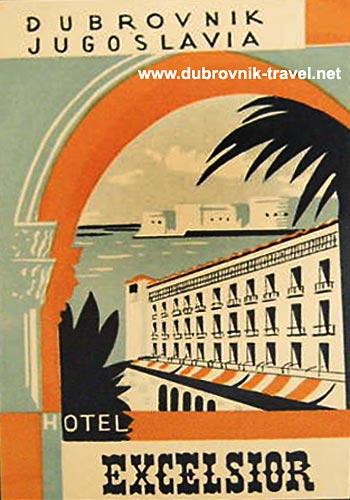 Excelsior Dubrovnik retro poster