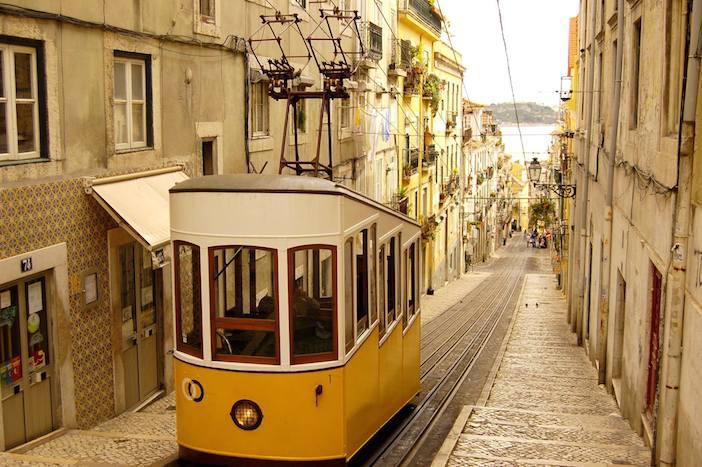 Lisbon hill tram